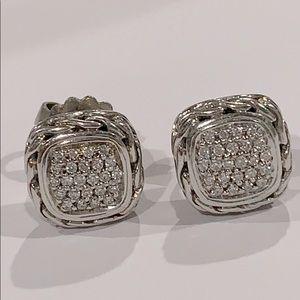 John Hardy925 Diamonds Chain Stud Earring